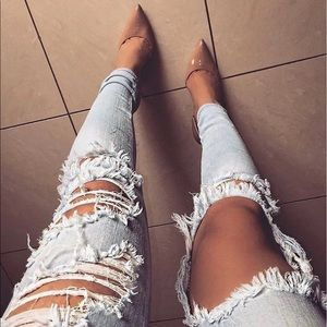 🆕High Rise Distressed Skinny Jeans